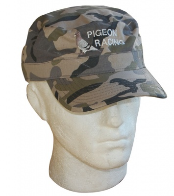 Embroidered Pigeon Camouflage Cap