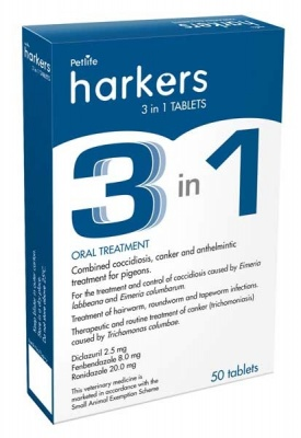 Harkers ''3-in-1'' Tablets - 50 tablets