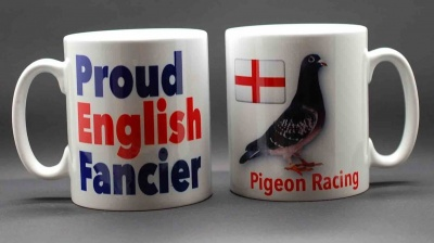 MUG - Proud English Fancier / Pigeon & St George flag
