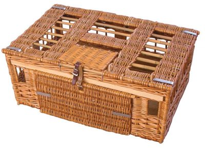 11-14 Bird Boddy & Ridewood Wicker Pigeon Basket