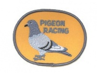 Pigeon Sew-on Patch - Oval Shape