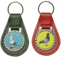 Faux Leather Type Pigeon Key Ring