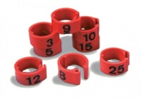 Numbered Rings 1-50 Laser Marked
