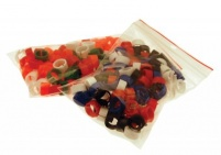 100 Clip Rings Mixed Colours