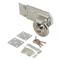 High Security Disc Padlock & Steel Hasp Kit