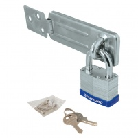 Padlock & Steel Hasp Kit