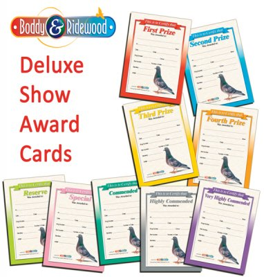 Show Award Cards (Deluxe) Set of 9
