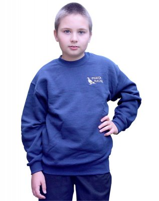 Children's Pigeon Motif Sweatshirt