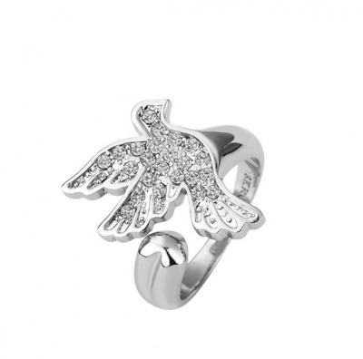 18k White Gold Plated Flying Pigeon Ring