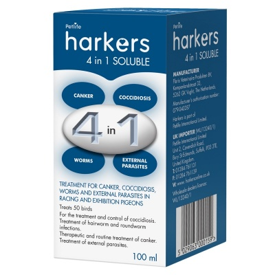 Harkers 4 in 1 Soluble 100ml - MISSING LABEL