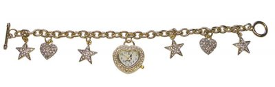 Ladies Pigeon Watch and Charm Bracelet