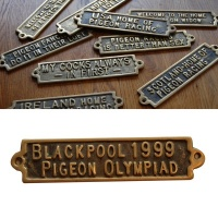 Blackpool 1999 Pigeon Olympiad - Brass Plaque