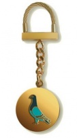 Brass Key Ring on Chain