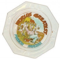 Small Ashtray 4.5'' (110mm) - World's Greatest Pigeon Fancier Motif