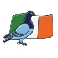 Badge - Premier Pigeon/Flag Design - Irish Flag