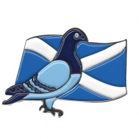Badge - Premier Pigeon/Flag Design - Scottish Flag