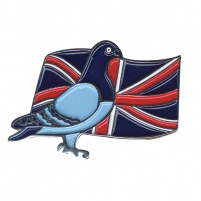 Badge - Premier Pigeon/Flag Design - Union Jack