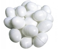 Plastic Hollow Dummy Pigeon Eggs Pack of 10
