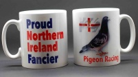 MUG - Proud Northern Ireland Fancier / Pigeon & Ulster flag