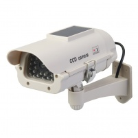 Solar-Powered Dummy CCTV Camera with LED